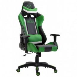Silla de oficina de cuero sintético Jerez - negro / verde