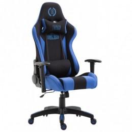 tela de la silla de oficina Boavista - negro / azul