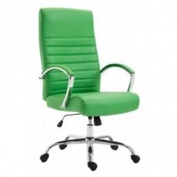 Silla de oficina de cuero sintético Valais - verde