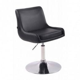 Silla lounge Club imitación cuero - negro