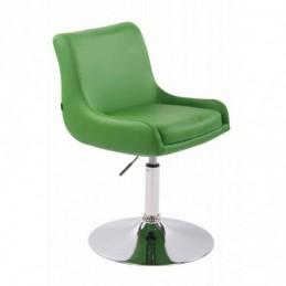Silla lounge Club imitación cuero - verde