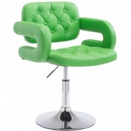 Silla lounge Dublin imitación cuero - verde