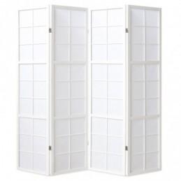 Paravent, Biombo de Madera 4 paneles  blanco