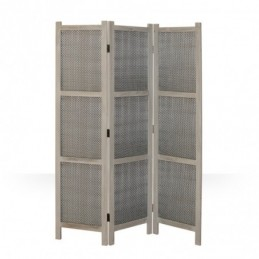 Paravent, Biombo 641 ramas gris madera 3 paneles
