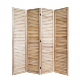 Paravent, Biombo madera clara 4 paneles
