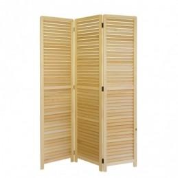 Paravent, Biombo 3 paneles de madera clara